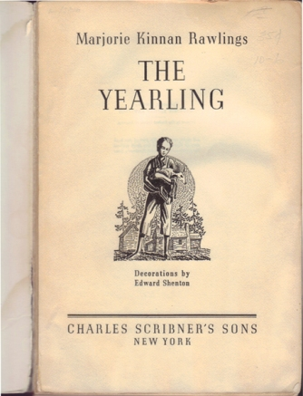 The Yearling Title Page